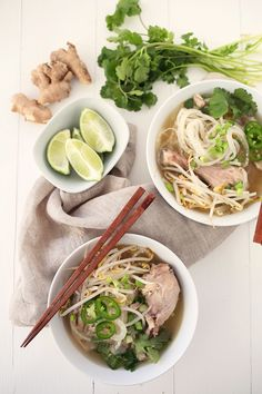 Chicken Pho with Daikon Noodles. Making a version of this with shrimp and sriracha!!