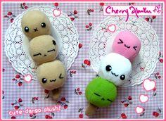 Dango plushies by CherryAbuku.deviantart.com on @deviantART