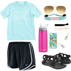 Cute preppy camp outfit