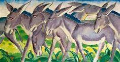 Donkey Frieze, Franz Marc Size: cm Medium: oil on canvas Franz Marc, Wassily Kandinsky, August Macke, Canvas Art Prints, Oil On Canvas, Cavalier Bleu, Blue Rider, Expressionist Artists, Animal Paintings