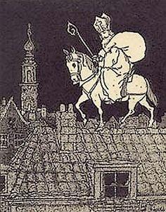 Sinterklaas Avond voor Broer en Zus (boek). P.F. Bellaart, Ida Heijermans, Emmy Lokhorst. Geïllustreerd door Freddy Langeler. H. Meulenhof - Amsterdam, ca. 1930