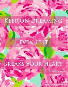 Keep dreaming quote via www.YourSororitySister.com