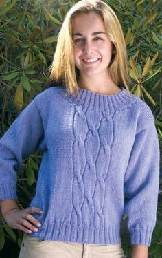 Erica pullover sweater pattern - a Martha Hall design exclusively from Patternworks in Meredith Bay yarn