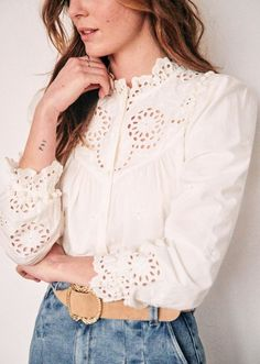 20 Dreamy Pieces from Sezane on My Wish List - Katie Considers Bohemian Tops, Chic Outfits, Fashion Outfits, Womens Fashion, Fashion Trends, 00s Fashion, College Fashion, Curvy Fashion, Classy Outfits