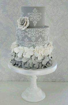 Beautiful Silver Anniversary Cake (Bodas de Plata).