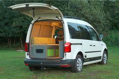 Volkswagen Caddy, Vw Caddy 4x4, Caddy Van, Small Camper Vans, Small Campers, Mini Camper, Bus Camper, Camper Trailers, Minivan Camping