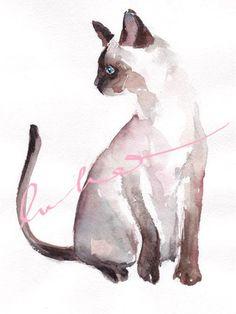 Cat watercolors by Vera (lulabies).