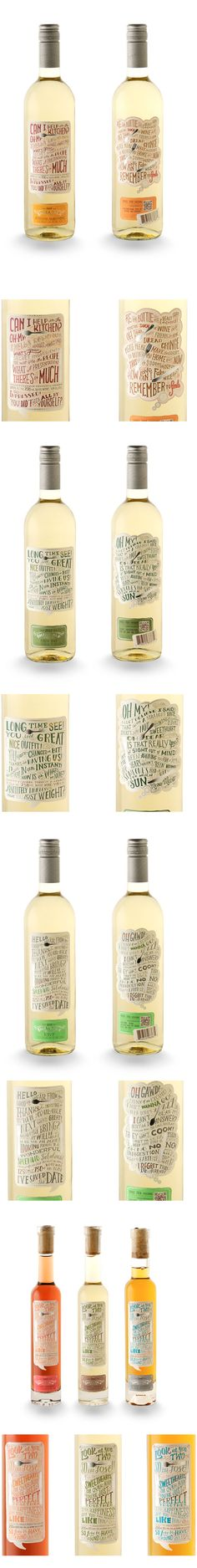 Small Talk Vineyard Too cute. Cool Packaging, Beverage Packaging, Bottle Packaging, Brand Packaging, Design Packaging, Wine Bottle Design, Wine Label Design, Wine Bottle Labels, Wine Bottles