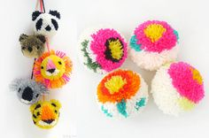 pompones de lana paso a paso - Buscar con Google