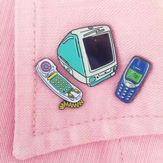 inspired product design for Laser Kitten Imac G3, Hotline Bling, Cartoon Sketches, Layering Outfits, Pin And Patches, Band Shirts, Pin Badges, Lapel Pins, Nostalgia