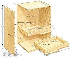 Modelo de armário para a bancada