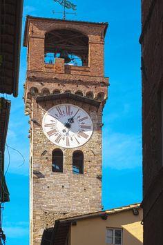 Torre Guinigi e Torre delle Ore di Lucca     Uno scorcio della Torre Guinigi