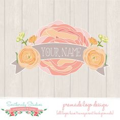 Photography Business Boutique Logo Design for Photographers or Small Business includes Watermark via Etsy