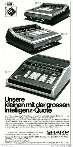 Original-Werbung/ Anzeige 1969 - SHARP RECHNER - ca. 115 x 240 mm