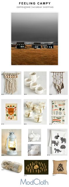 Camp and Cabin Decor for fall with @Modcloth and Copy Cat Chic