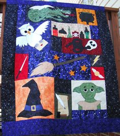 Harry Potter Themed Quilt Top