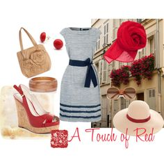 A Touch of Red, created by sharye on Polyvore