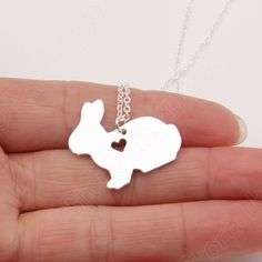 1pcs Bunny Necklace Peter Rabbit Necklaces & Pendants