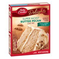 Shop for Betty Crocker Baking Mixes in Baking. Buy products such as pack) Betty Crocker Super Moist White Cake Mix, oz at Walmart and save. Pear Recipes, Cake Mix Recipes, Gourmet Recipes, Moist Carrot Cakes, Moist Cakes, Butter Pecan Cake, Milk Ingredients, Cake Mix Cookies, Savoury Cake