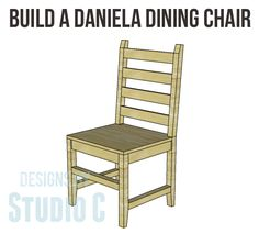 Build One Chair Or Several With The Daniela Dining Plans I Really Love This Design And Am Considering Building These For Myself
