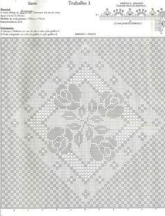 Tapete de Barbante em Crochê com Gráfico - Crochê On Line - Gráficos, Paps e Vídeoaulas