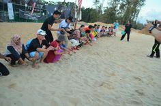 Set free the baby turtle at Cherating Beach Resort
