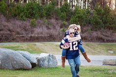 Engagement session. football jersey, aviators