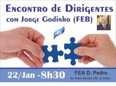 Encontro de Dirigentes Espíritas com Jorge Godinho (FEB) em Manaus - AM - http://www.agendaespiritabrasil.com.br/2017/01/15/encontro-de-dirigentes-espiritas-com-jorge-godinho-feb-em-manaus-am/