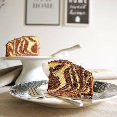 Torta zebrata vaniglia e cacao #ricetteaquadretti #thisishome