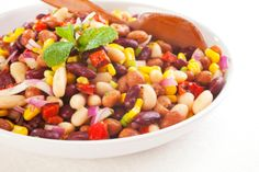 Spicy Bean Salsa - I would use lime juice and honey instead of dressing.