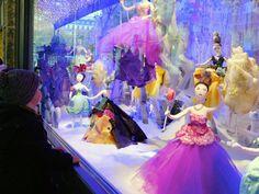 Christmas window display at Printemps department store in Paris