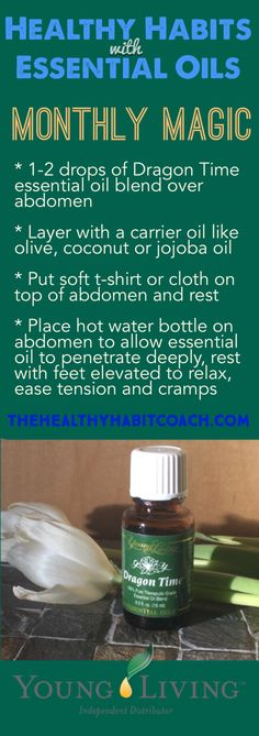 Monthly Magic: WARNING...May bring relief from cramps and bloating. Healthy Habits with Essential Oils from http://www.theHealthyHabitCoach.com