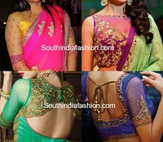 Party Wear Net Blouse Designs