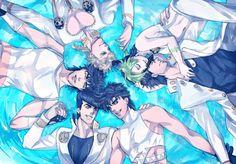 JoJo's generation- Jonathan, Joseph, Jotaro, Josuke, Giornno and Jolyne