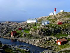 Lindesnes Fyr (The lighthouse of Lindesnes),  Norways southernmost tip