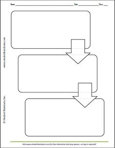 Three Box Flow Chart   Worksheet Also Available With 2, 4, And 5  Flow Chart Template For Kids