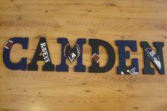 Baltimore Ravens theme letters