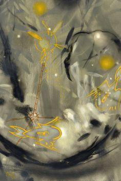 Carlos Jacanamijoy, Viento amarillo y raiz del árbol del viento, 120 x 120 cm, 2013 Sculptures, Collage, Mood, Illustration, Painting, Impressionist Paintings, Impressionism, Abstract, Yellow