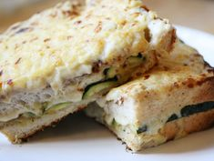 Vegetarian Grilled Zucchini Croque Mademoiselle (not g.f.)