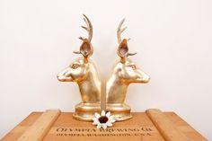 Deer head bookends
