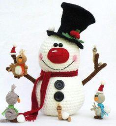 Веселые новогодние снеговички. Все описания на русском языке прикреплены к фотографиям.