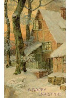 Antique Christmas postcard