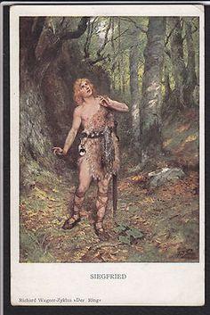 Art-Richard Wagner-Siegfried-M Munk-Postcard
