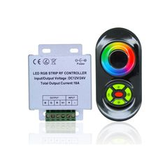 RF RGB LED Controller DC-12V-24V 3-channel 5A/Ch common-anode -    RF LED Controller, 3 channels, 5A/Ch, common anode, DC 12V~24V, adjust color & brightness, with touch remote control, Downlaod User Guide Product Description  Five key touch controller is wireless small volume controller which newly introduced by our company, touch remote control adopts...