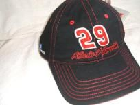 Kevin Harvick #29 Black & Red Stitch Ball cap New w/tags ww/free shipping