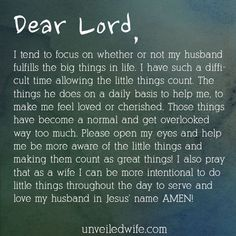 Prayer: Making The Little Things Count