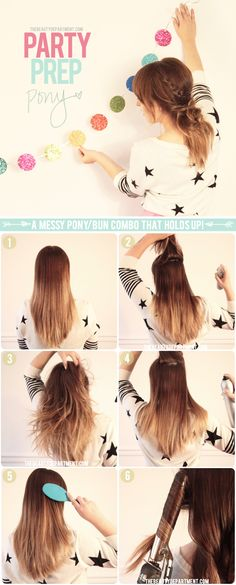How To: Party ponytail. Perfect