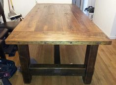 Reclaimed Barnwood Dining Table Base Put By NotAmishFurniture, $2000.00