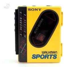 SONY FM-WM75 Walkman FM Radio Sports - cyan74.com - vintage & pop culture