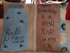 Auntie Ju's Quilt Shoppe  - The Friendship Pillow - kit, $28.99…